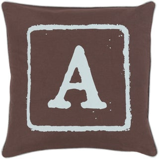 Desmond Feather and Down Filled or Poly Filled 18-inch Throw Pillow
