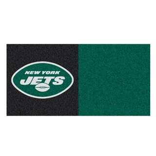 Fanmats New York Jets Black and Green Carpet Tiles