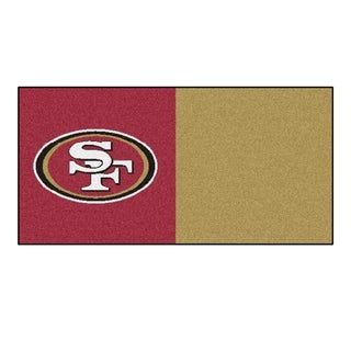 Fanmats San Francisco 49ers Red and Gold Carpet Tiles