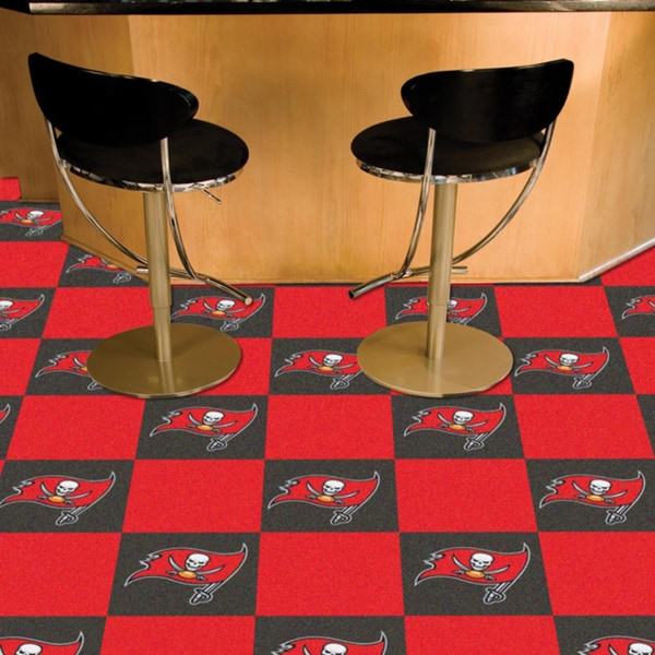Fanmats Tampa Bay Buccaneers Grey and Red Carpet Tiles