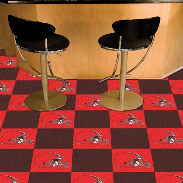 Fanmats Cleveland Browns Brown and Orange Carpet Tiles
