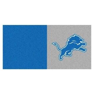 Fanmats Detroit Lions Blue and Grey Carpet Tiles