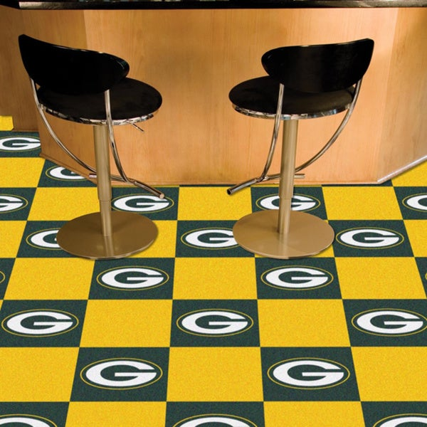 Fanmats Green Bay Packers Green and Gold Carpet Tiles