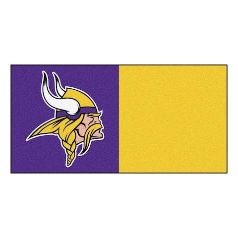 """FANMATS NFL - Minnesota Vikings Team Carpet Tiles 18""""x18"""" tiles"""