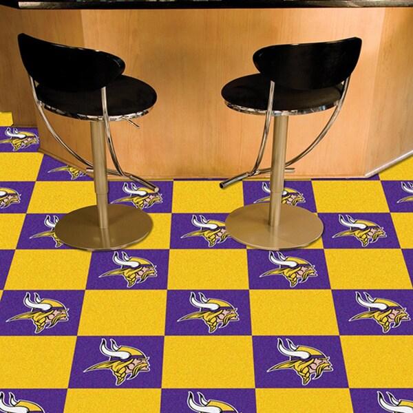 Fanmats Minnesota Vikings Purple and Gold Carpet Tiles