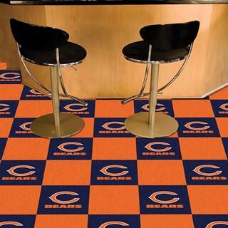 Fanmats Chicago Bears Blue and Orange Carpet Tiles