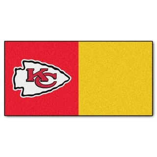 Fanmats Kansas City Chiefs Red and Yellow Carpet Tiles