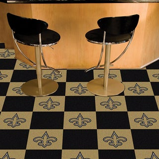 Fanmats New Orleans Saints Black and Gold Carpet Tiles