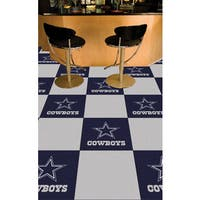 Fanmats Dallas Cowboys Blue and Grey Carpet Tiles