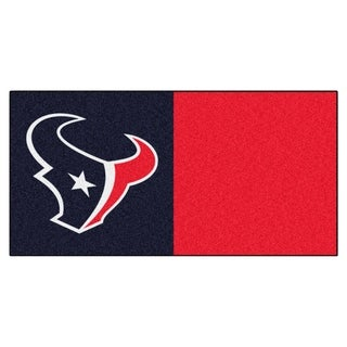 Fanmats Houston Texans Blue and Red Carpet Tiles