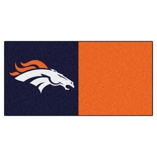 Fanmats Denver Broncos Blue and Orange Carpet Tiles