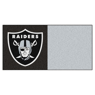 Fanmats Oakland Raiders Black and Grey Carpet Tiles
