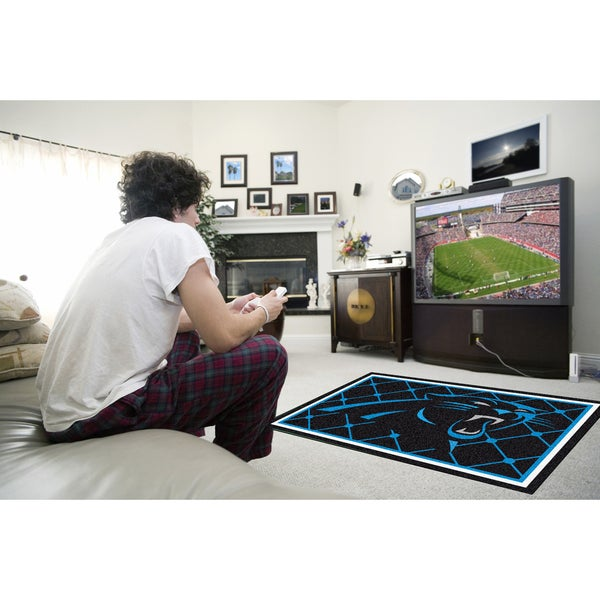 Fanmats Carolina Panthers Black Nylon Area Rug (4' x 6')