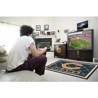 Fanmats Chicago Bears Blue Nylon Area Rug (4' x 6')