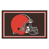 Fanmats Cleveland Browns Brown Nylon Area Rug (4' x 6')