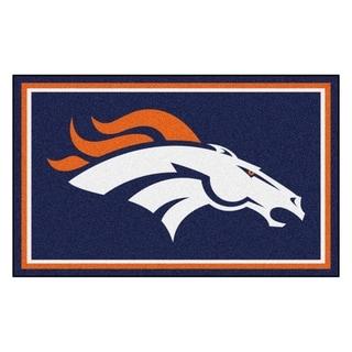 Fanmats Denver Broncos Blue Nylon Area Rug (4' x 6')