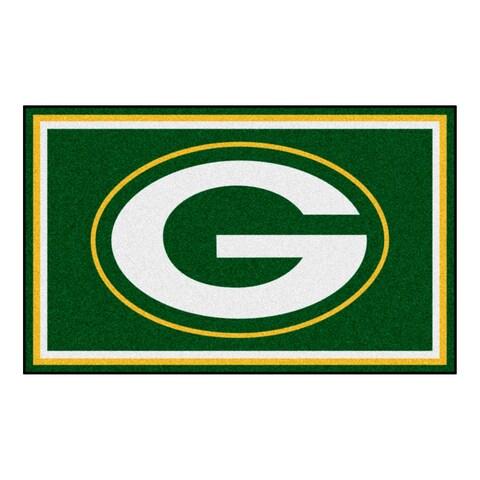Fanmats Green Bay Packers Green Nylon Area Rug (4' x 6')