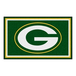 Fanmats Green Bay Packers Green Nylon Area Rug (4' x 6')