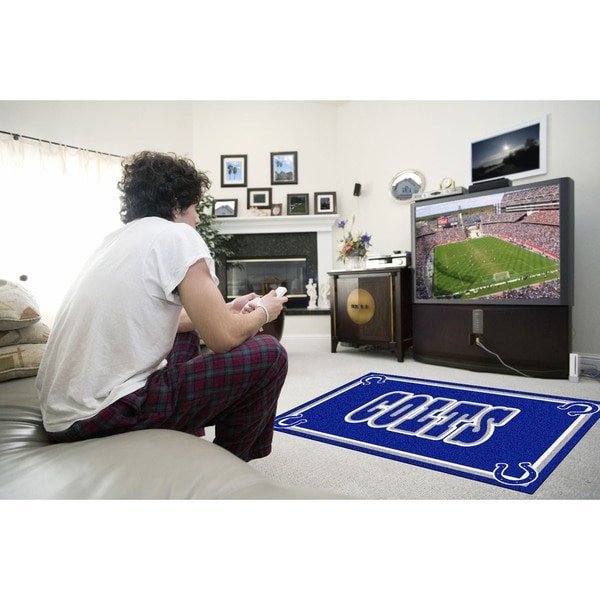 Fanmats Indianapolis Colts Blue Nylon Area Rug (4' x 6')