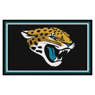 Fanmats Jacksonville Jaguars Black Nylon Area Rug (4' x 6')