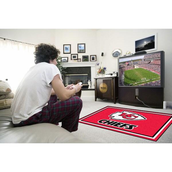 Fanmats Kansas City Chiefs Red Nylon Area Rug (4' x 6')