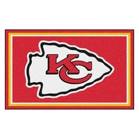 Fanmats Kansas City Chiefs Red Nylon Area Rug (4' x 6')