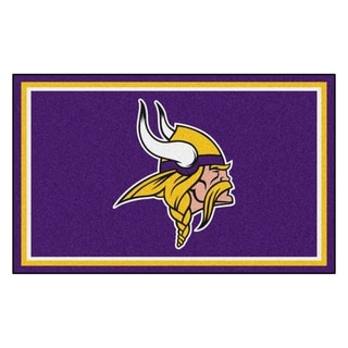 Fanmats Minnesota Vikings Purple Nylon Area Rug (4' x 6')