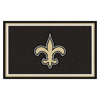 Fanmats New Orleans Saints Black Nylon Area Rug (4' x 6')