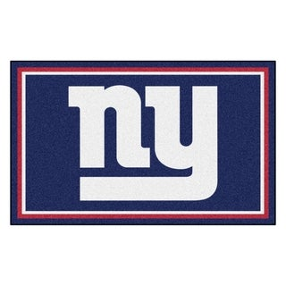 Fanmats New York Giants Blue Nylon Area Rug (4' x 6')