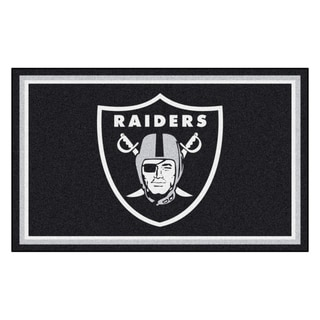 Fanmats Oakland Raiders Black Nylon Area Rug (4' x 6')