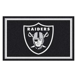 Fanmats Oakland Raiders Black Nylon Area Rug (4' x 6')