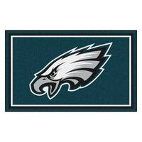 Fanmats Philadelphia Eagles Teal Nylon Area Rug (4' x 6')