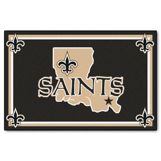 Fanmats New Orleans Saints Black Nylon Area Rug (5' x 8')