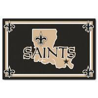Fanmats New Orleans Saints Black Nylon Area Rug (5' x 8')