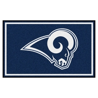 Fanmats Los Angeles Rams Black Nylon Area Rug (4' x 6')