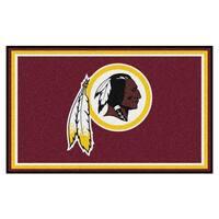 Fanmats Washington Redskins Burgundy Nylon Area Rug (4' x 6')