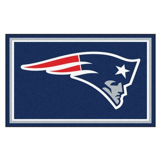 Fanmats New England Patriots Blue Nylon Area Rug (4' x 6')