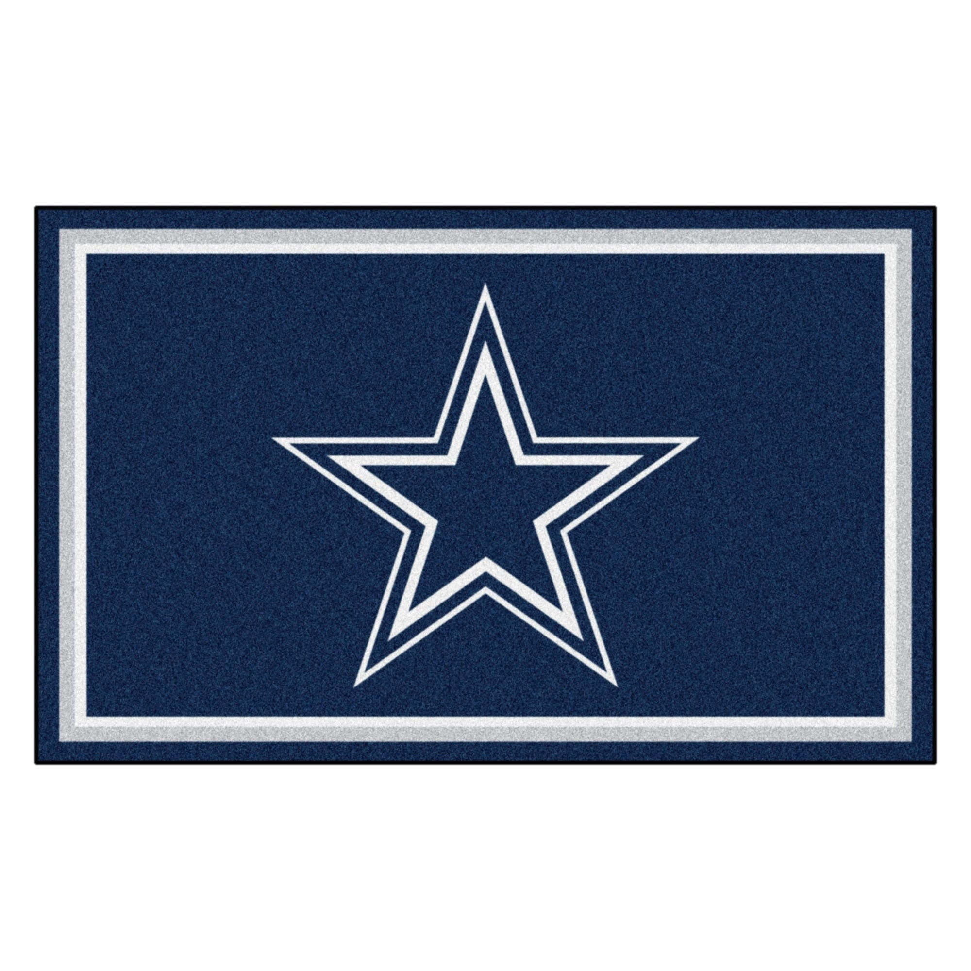 Fan Mats Dallas Cowboys Blue Nylon Area Rug (4' x 6') (48...