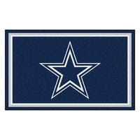 Fanmats Dallas Cowboys Blue Nylon Area Rug (4' x 6')