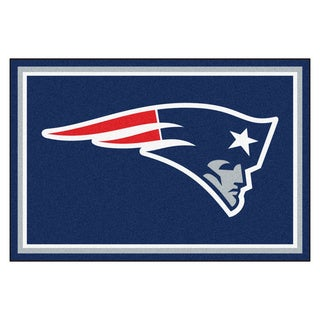 Fanmats New England Patriots Blue Nylon Area Rug (5' x 8')