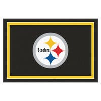 Fanmats Pittsburgh Steelers Black Nylon Area Rug (5' x 8')