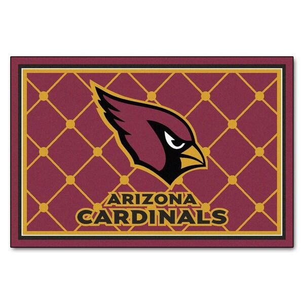 Fanmats Arizona Cardinals Burgundy Nylon Area Rug (5' x 8')