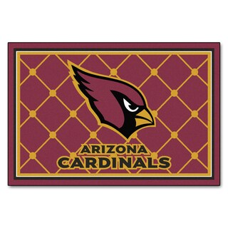 Fanmats Arizona Cardinals Burgundy Nylon Area Rug (5' x 8')