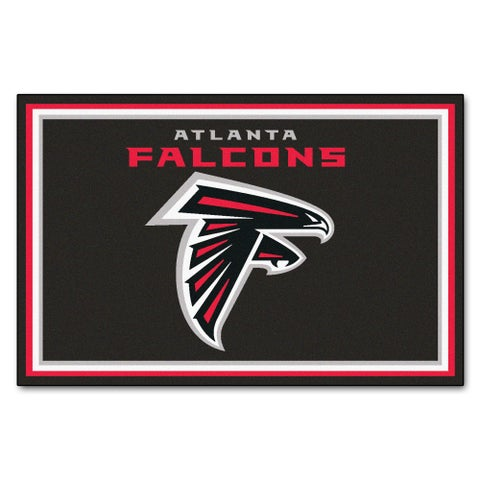 Fanmats Atlanta Falcons Black Nylon Area Rug (5' x 8')