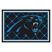 Fanmats Carolina Panthers Black Nylon Area Rug (5' x 8')