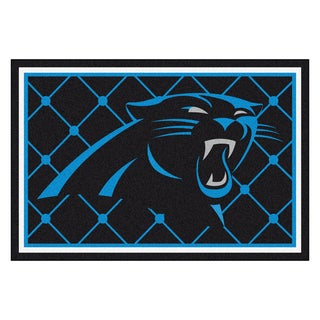 Fanmats Carolina Panthers Black Nylon Area Rug (5' x 8')