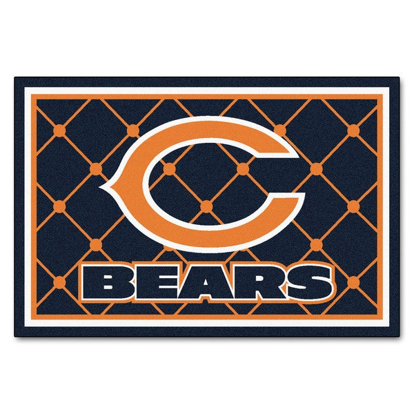 Fanmats Chicago Bears Blue Nylon Area Rug (5' x 8')