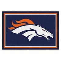 Fanmats Denver Broncos Blue Nylon Area Rug (5' x 8')