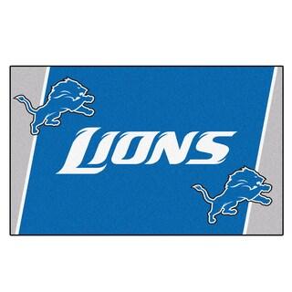 Fanmats Detroit Lions Blue Nylon Area Rug (5' x 8')