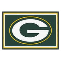 Fanmats Green Bay Packers Green Nylon Area Rug (5' x 8')